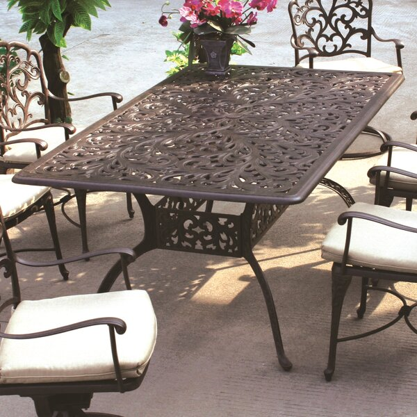 Fairmont Aluminum Dining Table by Astoria Grand