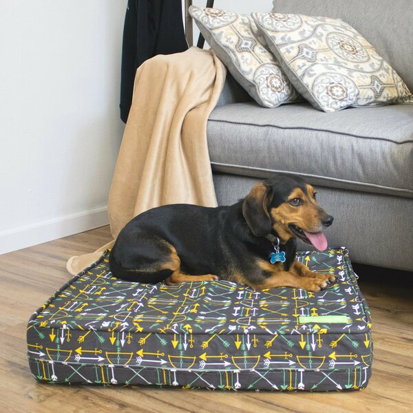 Elmirasol Thick Soft/Firm Reversible Dog Bed by Tucker Murphy Pet