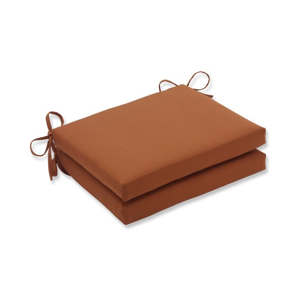 Cinnabar Indoor/Outdoor Seat Cushion (Set of 2) by Pillow Perfect