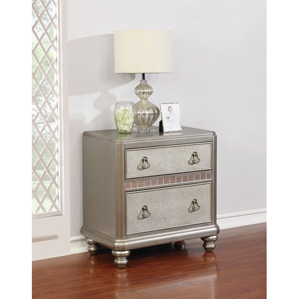 Marybella 2 Drawer Nightstand by Rosdorf Park