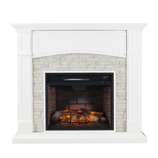 Shanks White Electric Fireplace by Alcott Hill Alcott Hill