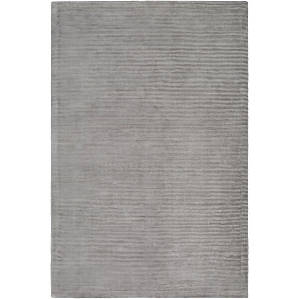 Aurora Hand Woven Medium Gray Area Rug by Williston Forge
