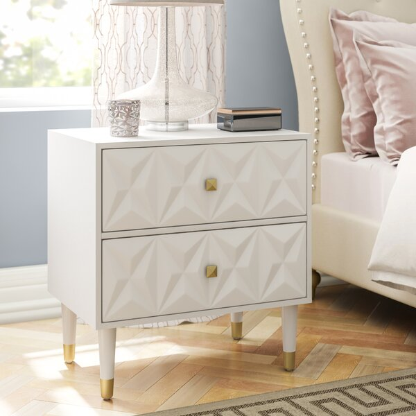 Morley 2 Drawer Nightstand By Everly Quinn by Everly Quinn Today Only Sale