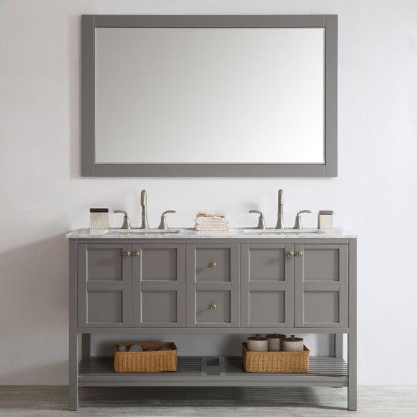 Eita 60 Double Bathroom Vanity Set with Mirror