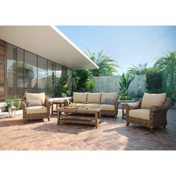 Cayman 6 Piece Rattan Sofa Seating Group with Sunbrella Cushions