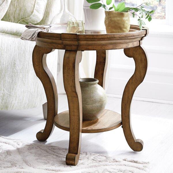 Porter Circular Top End Table by Canora Grey