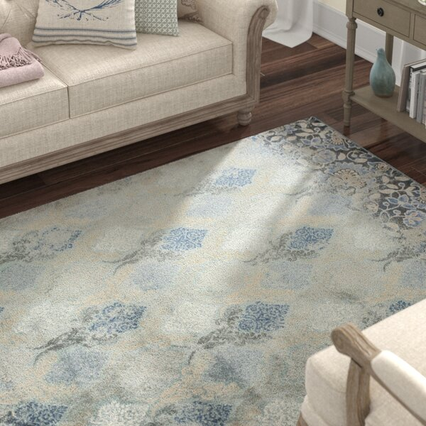 Benoit Slate Blue Area Rug by Lark Manor