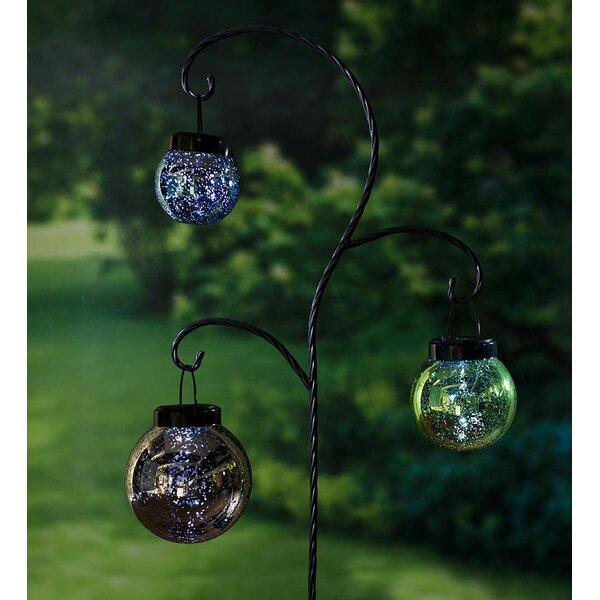 Hanging Mercury Glass Solar Lanterns 3 Piece Garden Stake Set by Plow & Hearth