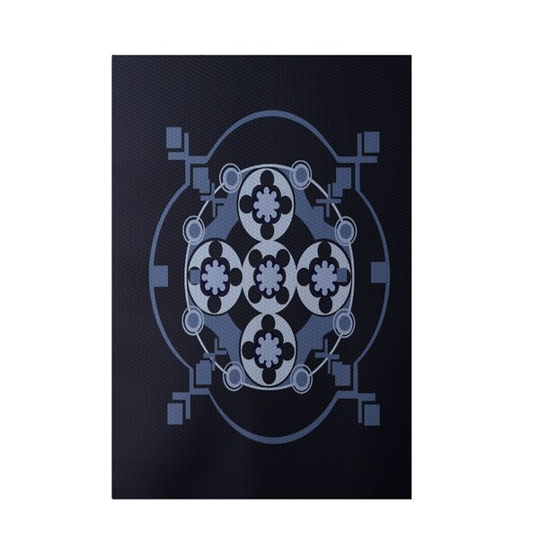Navy Blue Indoor/Outdoor Area Rug by e by design