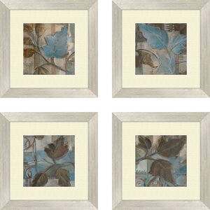 Botanical Perfect Match 4 Piece Framed Painting Print Set (Set of 4) by Alcott Hill