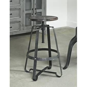 Pleasing Williston Forge Wellman Adjustable Height Swivel Bar Stool Machost Co Dining Chair Design Ideas Machostcouk