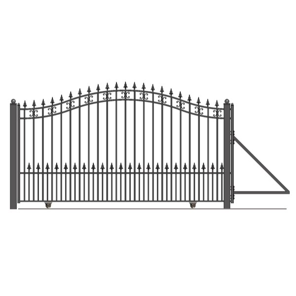 St. Petersburg Steel Single Sliding Driveway Gate by ALEKO