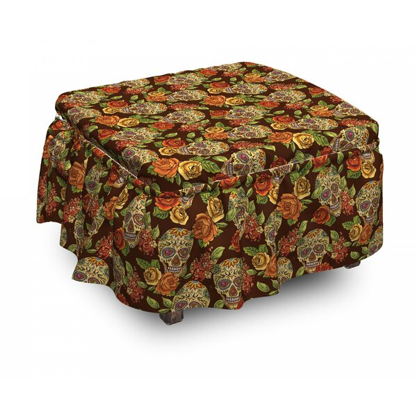 Discount Box Cushion Ottoman Slipcover