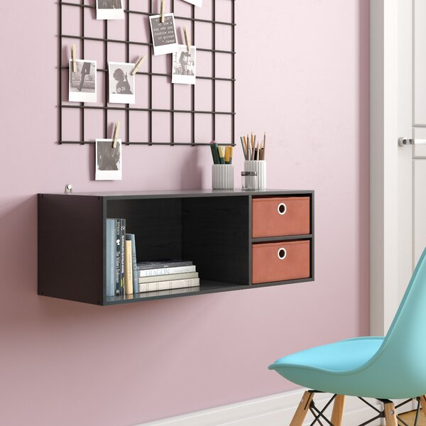 Brigette Wall Mounted Storage Desk Hutch by Ebern Designs