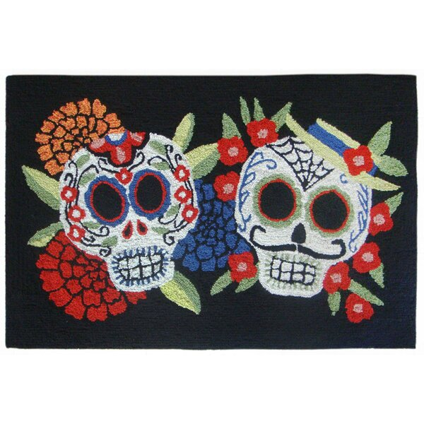 Mr.and Mrs. Muerto Hand-Tufted Black Indoor/Outdoor Area Rug by The Holiday Aisle