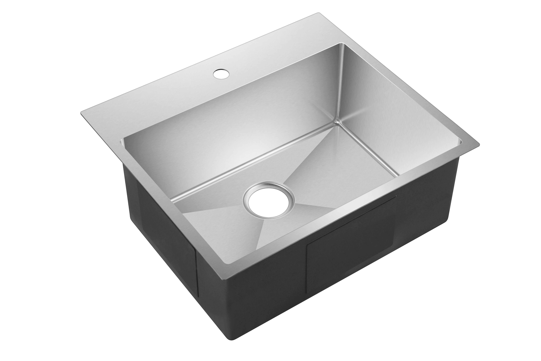 "Water Creation 25"" x 22"" Drop In Kitchen Sink & Reviews"