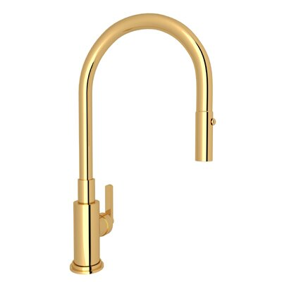 Lombardia Pull Down Single Handle Kitchen Faucet by Rohl