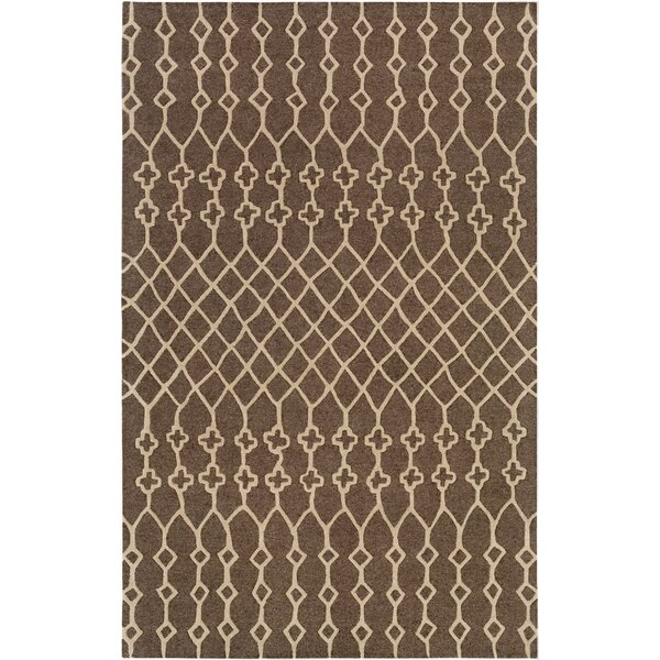 Littrell Hand-Tufted Taupe Area Rug by Union Rustic