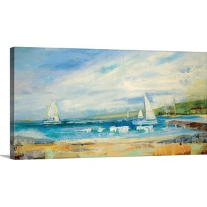 'Seaside Harbor I' by Jill Martin Painting Print on Canvas by Great Big Canvas
