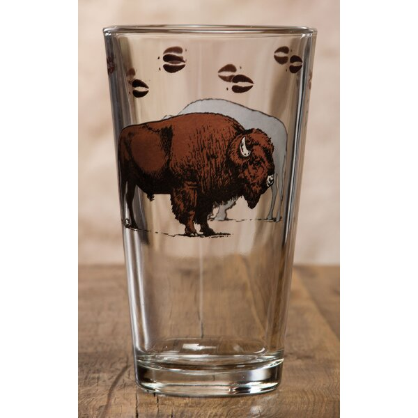 Adelina Bison 20 oz. Glass Pint Glass (Set of 4) by Loon Peak