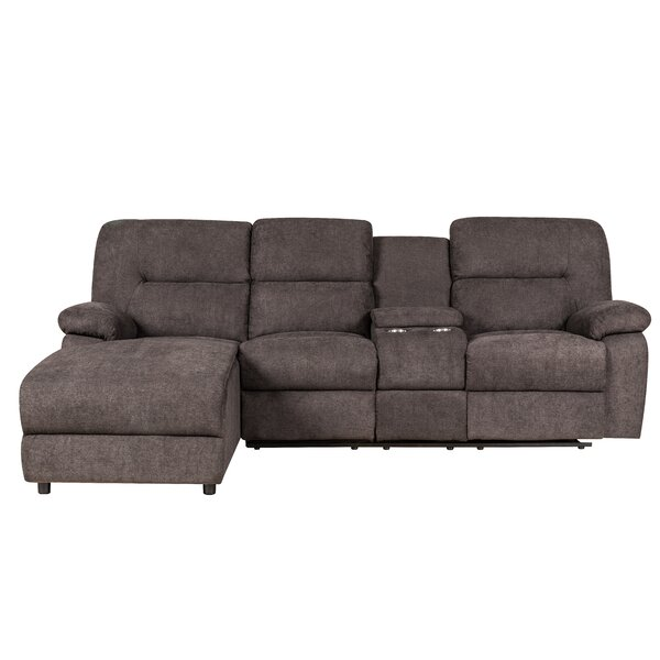 New Collection Elosie Left Hand Facing Reclining Sectional by Latitude Run by Latitude Run