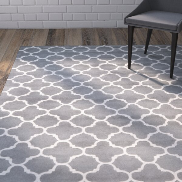 Averett Hand-Tufted Wool Dark Gray/Ivory Area Rug by Brayden Studio