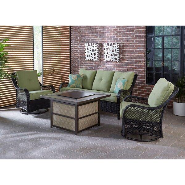 Walker 4 Piece Woven Lounge Set by Bay Isle Home