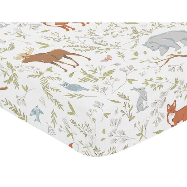 Woodland Toile Fitted Crib Sheet by Sweet Jojo Designs