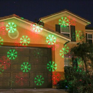 2 light snowflake laser projector light - Christmas Lights Projector On House
