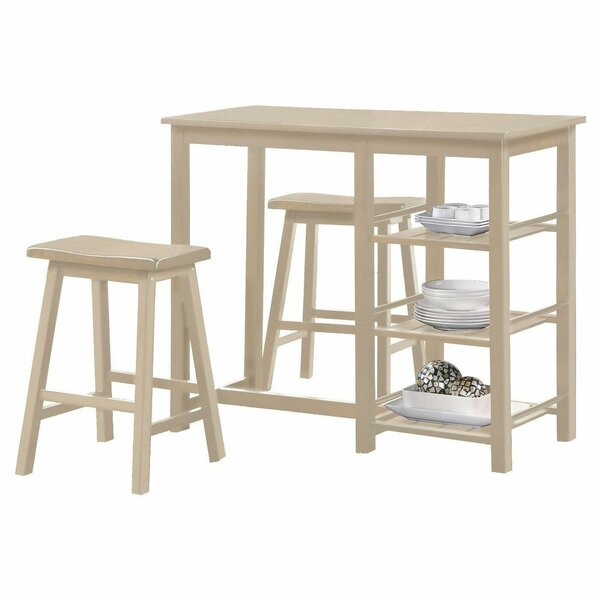 Sweeting Wood Frame Counter Height 3 Piece Pub Table Set by Winston Porter