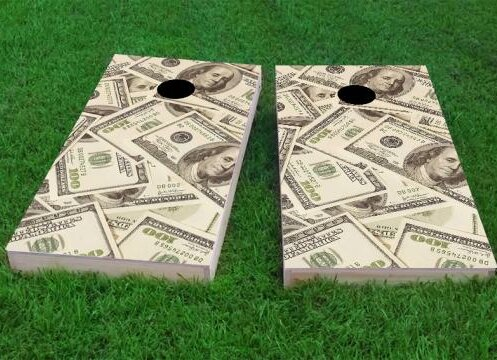 Money Cornhole Game (Set of 2) by Custom Cornhole Boards