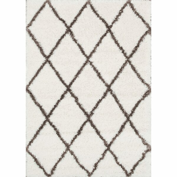 Bronson Plush Brown/Cream Area Rug by Mercury Row