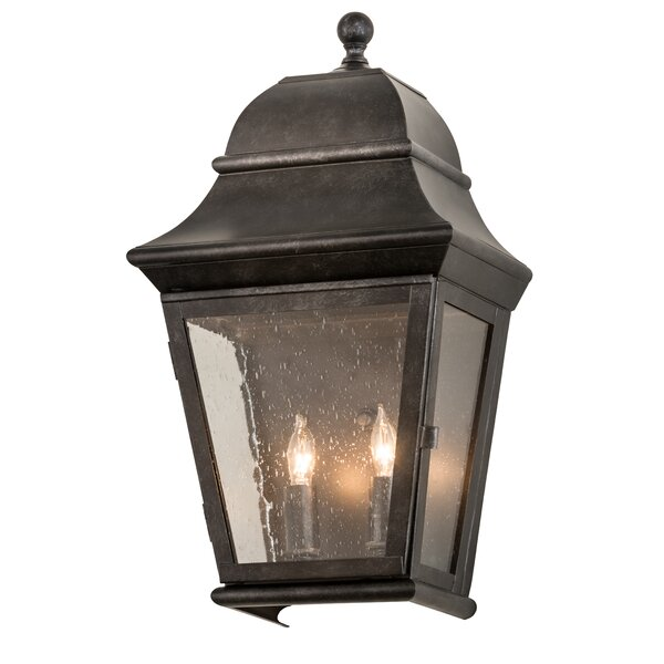 Unionstone 2-Light Outdoor Flush Mount by Canora G