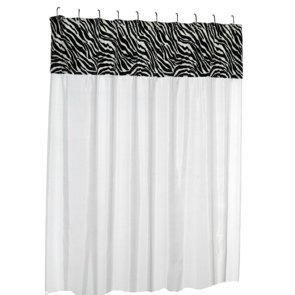 Contreras Serengeti Faux Fur-Trimmed Shower Curtain by World Menagerie