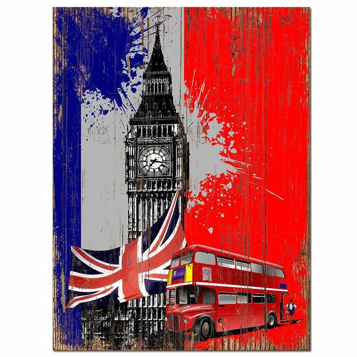 Winston Porter London City Wooden Sign Wall Décor | Wayfair