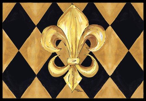 Fleur De Lis New Orleans Doormat by Caroline's Treasures