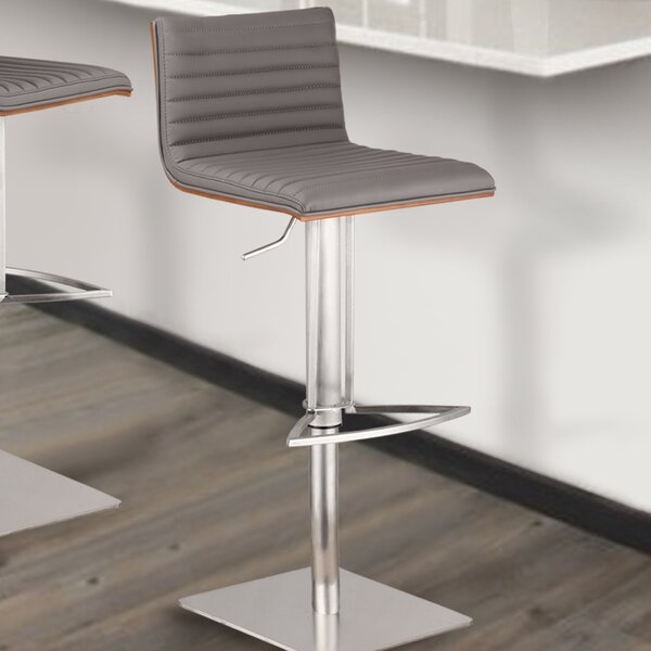 Café Adjustable Height Swivel Bar Stool by Armen Living