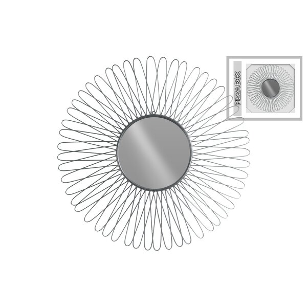 Gosford Round Metal Wall Mirror with Petal Design Frame by Orren Ellis