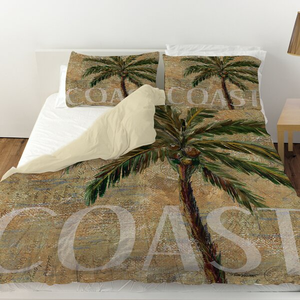 Coastal Palm Postcard Duvet Cover by Manual Woodworkers & Weavers