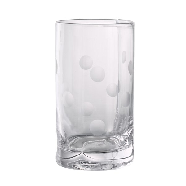 Brumit Polka Dot Highball Glass (Set of 4) by Ivy Bronx