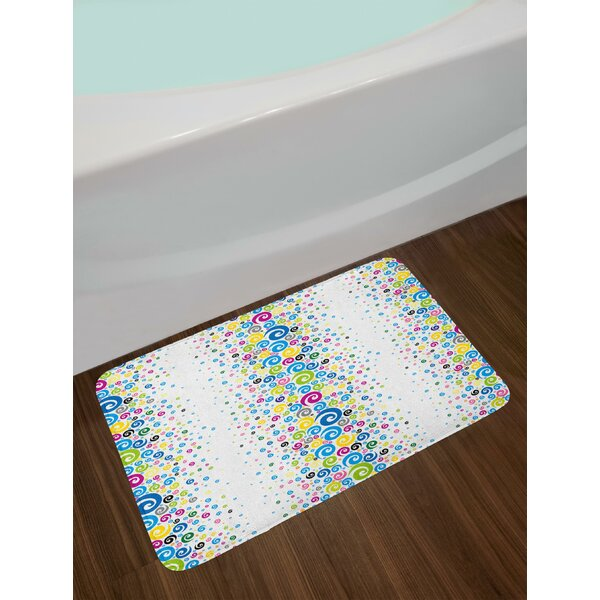 Vibrant Abstract Bath Rug by East Urban Home