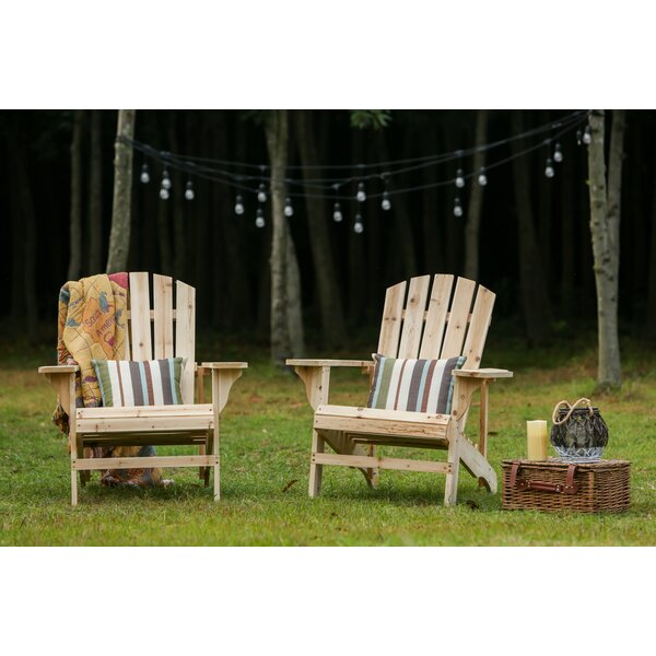 Steadman Solid Wood Adirondack Chair (Set of 2) by Millwood Pines