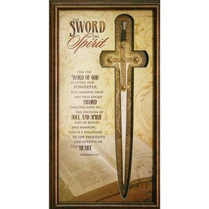 Gifts of Ministry 'Sword of the Spirit' Framed Textual Art by Carpentree