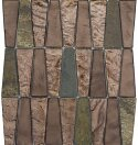 Imagine 11 x 12 Glass Stone and Metal Trapezoid Mosaic Tile in View by Emser Tile