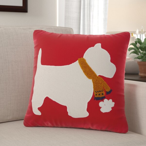 Leboeuf Scottie Cotton Throw Pillow by The Holiday Aisle