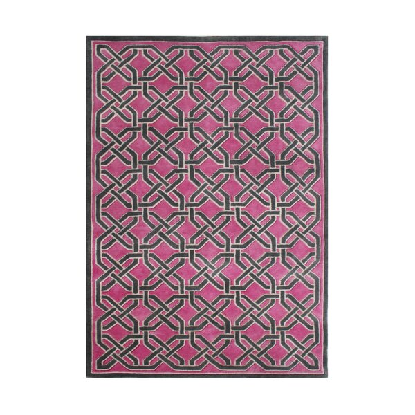 Westport Hand-Tufted Pink/Black Area Rug by The Conestoga Trading Co.