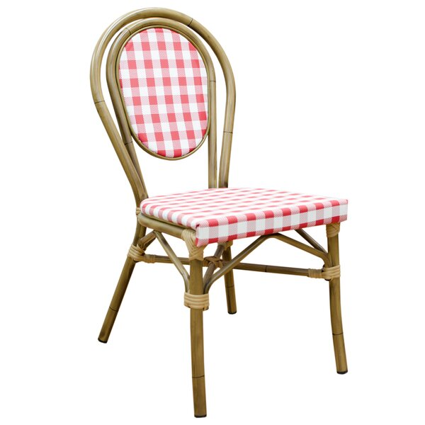 Andi Cafe Stacking Patio Dining Chair (Set of 4) by Millwood Pines