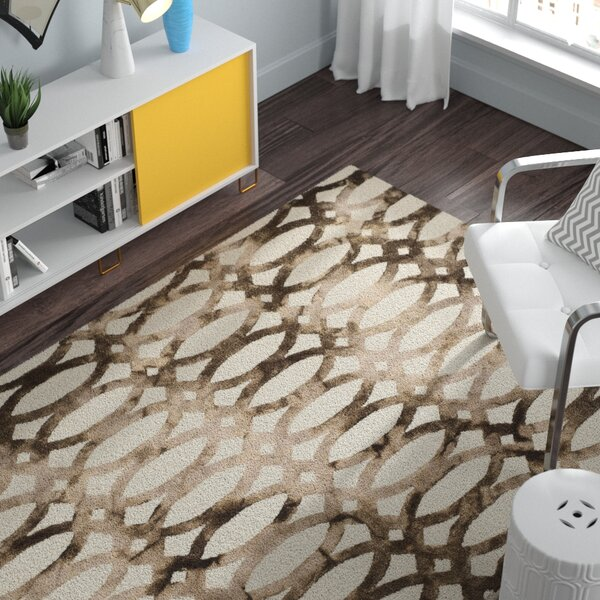 Edie Hand-Tufted Ivory/Chocolate Area Rug by Zipcode Design