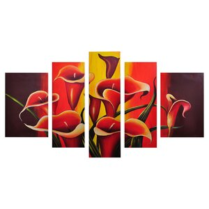 Mexican Fiesta! 5 Piece Painting on Wrapped Canvas Set by My Art Outlet