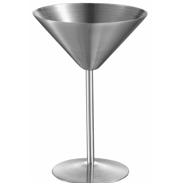 Charlotte Martini Glass 6 oz. Stainless Steel by Visol Products